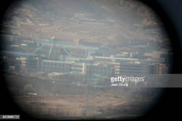 A view of Kaesong Industrial Complex in North Korea is seen from Dora Observatory inside the fortified Demilitarised Zone on April 7 2018 in Paju...