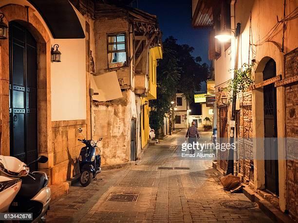 View of Kaleici - Old Town of Antalya by night