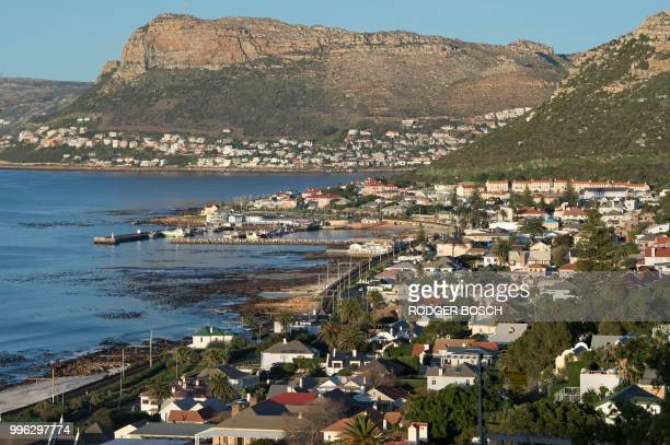 A view of Kalk Bay a trendy fishing village about 30km from the city centre taken on July 11 in Cape Town Kalk Bay with a combination of trendy...