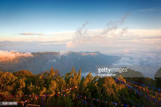 View of Kangchenjunga peak from Tiger Hill, Darjeeling, India