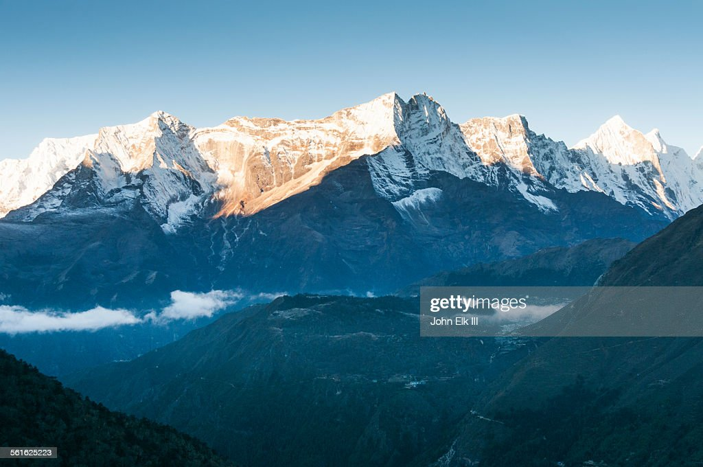 View of Kantega massif : Stock Photo