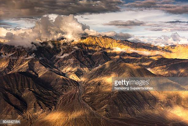 view of Karakoram range over Leh