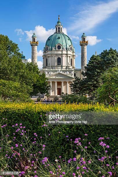 View of Karlskirche (St. Charles's Church), Vienna, Austria