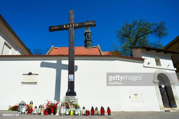 A view of Katyn Cross near Wawel Castle on the day of the 7th anniversary of the accident In the early hours of the morning on April 10th 2010 a...