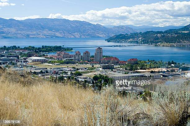 view of kelowna, bc - kelowna stock pictures, royalty-free photos & images