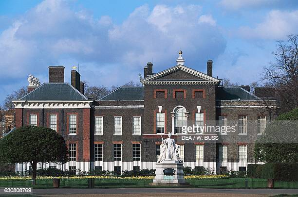 View of Kensington Palace from Kensington Gardens, London, England, United Kingdom.