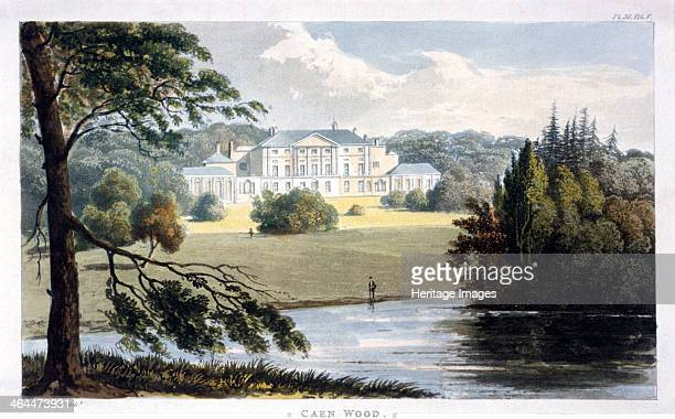 View of Kenwood House Caen Wood Hampstead London 1810