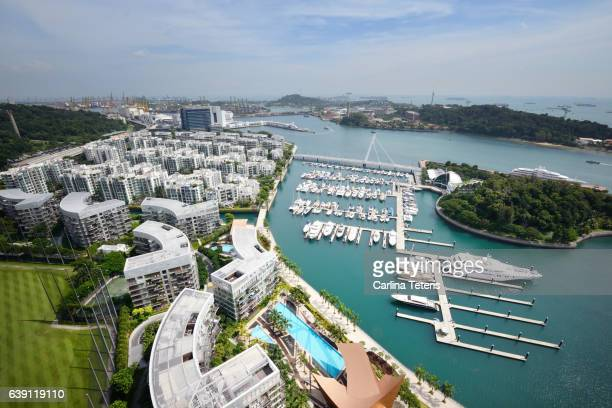 View of Kepple Bay Marina and Sentosa Island