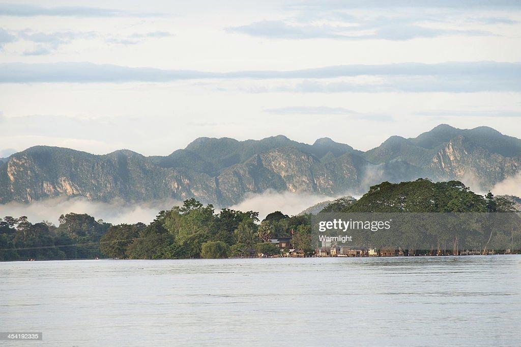 View of Khong river : Stock Photo