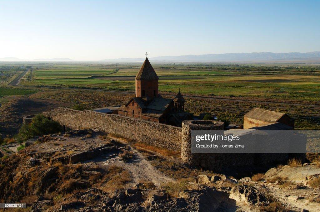 View of Khor Virap monastery : Stock-Foto