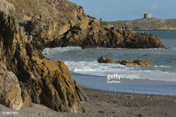 A view of Killiney beach with a part of Dalkey island in the background On Thursday February 15 Dublin Ireland