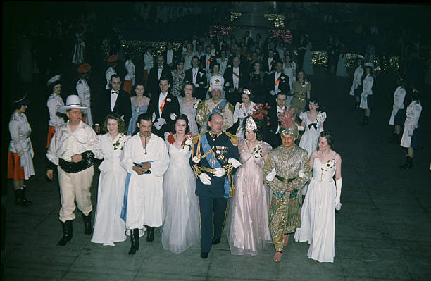 A view of King Boreas and the Royal court during the StPaul Winter Carnival in StPaulMinnesota