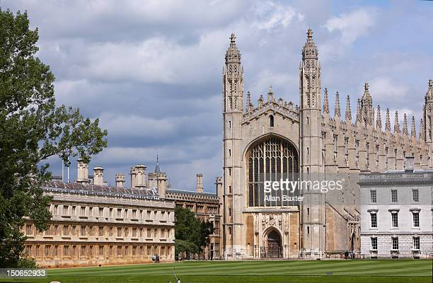 view of king's college chapel - cambridge university stock pictures, royalty-free photos & images
