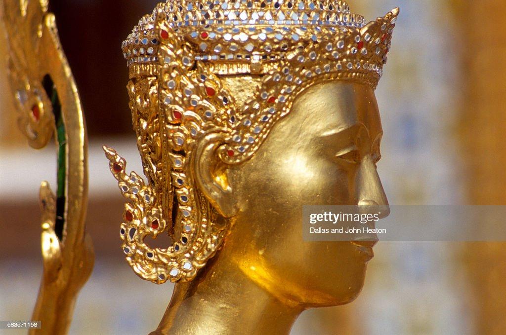 View of Kinnara Figure, Wat Phra Kaeo, Bangkok, Thailand : Stock Photo