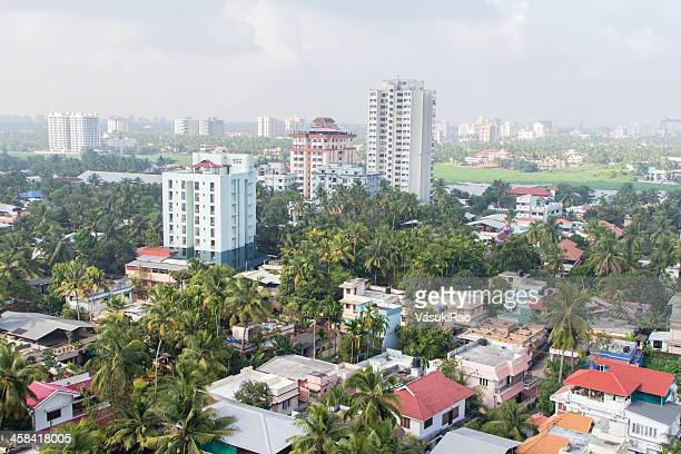 View of Kochi city, India