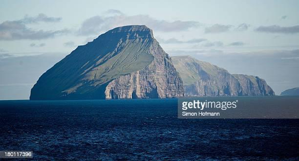 View of Koltur island is seen from Midvagur on September 7, 2013 in Midvagur, Faroe Islands.
