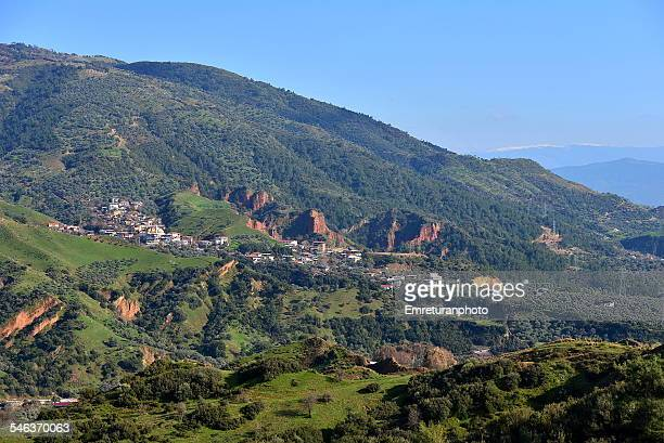 view of konuklukoy from mountain road - emreturanphoto stock pictures, royalty-free photos & images