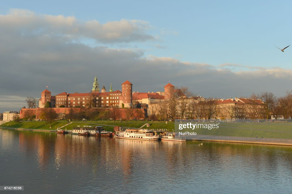 A view of Krakow's Wawel Castle. On Tuesday, 14 November 2017, in Krakow, Poland.