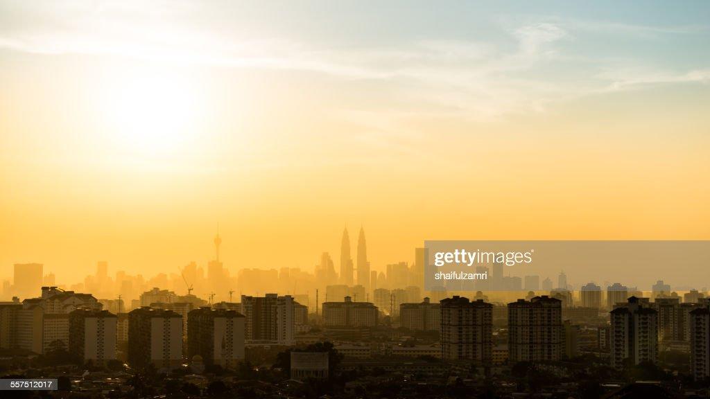 View of Kuala Lumpur sunset : Stock Photo