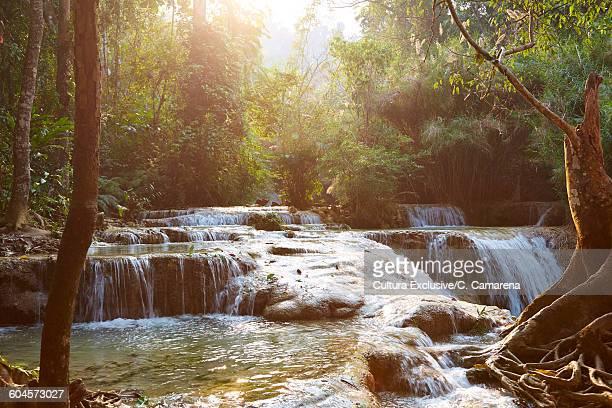 View of Kuang Si Falls, Luang Prabang, Laos
