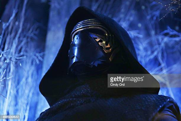 A view of Kylo Ren on display as part of a Star Wars themed holiday window at Bloomingdale's 59th Street Store on November 26 2015 in New York City