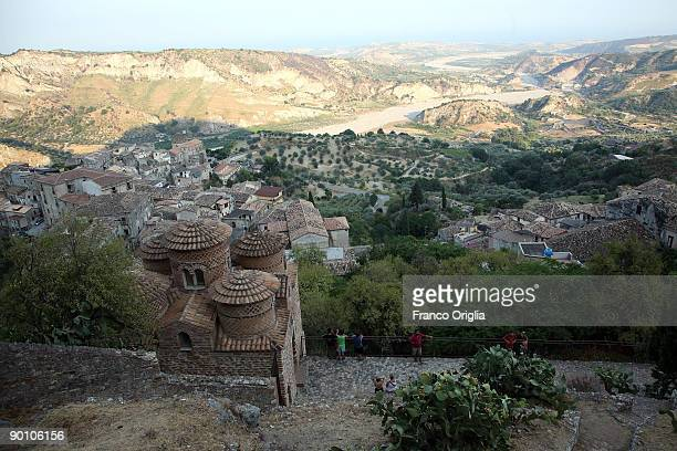 A view of La Cattolica on August 24 2009 in Stilo Reggio Calabria Italy Founded during the X century by its inhabitants who had recently arrived from...