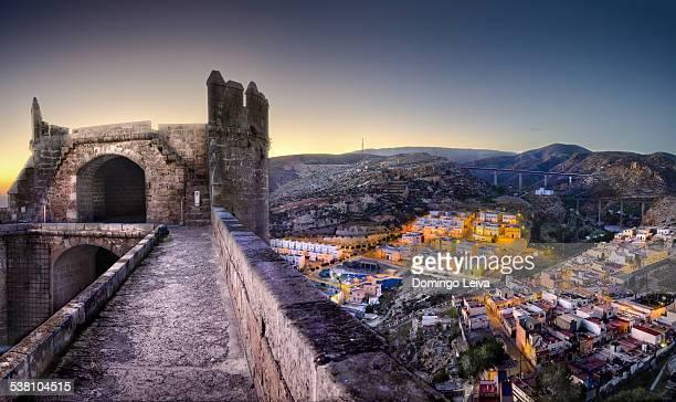 view of la chanca from la alcazaba of almeria - アルメリア ストックフォトと画像