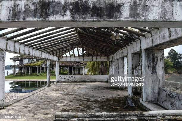 View of La Manuela a former vacation estate of late drug kingpin Pablo Escobar's family on El Penol reservoir in the municipality of the same name...