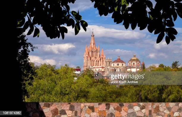 View of la Parroquia de San Miguel Arcangel church San Miguel de Allende Mexico 2018