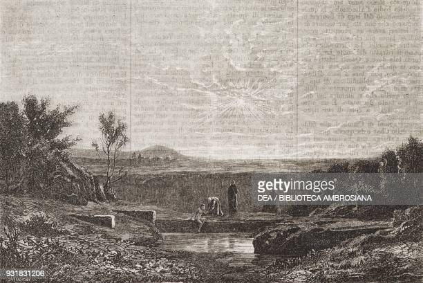 View of Lac du Bourget Savoy France illustration from Il Giornale Illustrato Year 2 No 14 April 814 1865