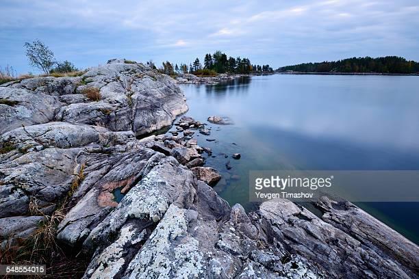 View of Ladoga Lake from Iso Koirasaari Island, Ladoga Lake, Republic of Karelia, Russia
