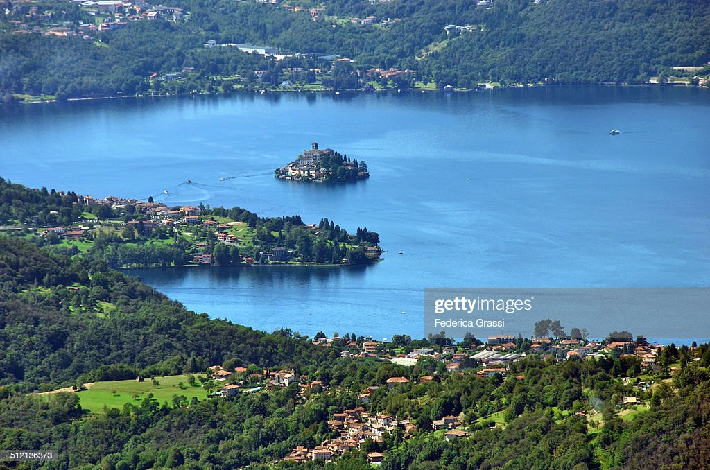View Of Lago Dorta Stock Photo - Getty Images