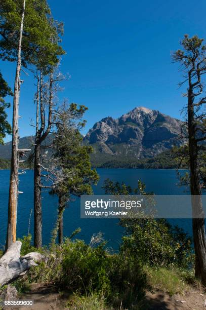 View of Lago Perito Moreno, a lake in the Lake District of Argentina.