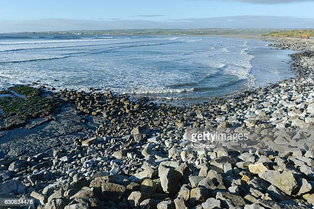 A view of Lahinch rocky beach On Wednesday 28 December 2016 in Lahinch County Clare Ireland