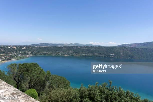 View of Lake Albano Landscape Castel Gandolfo Lazio Italy Europe