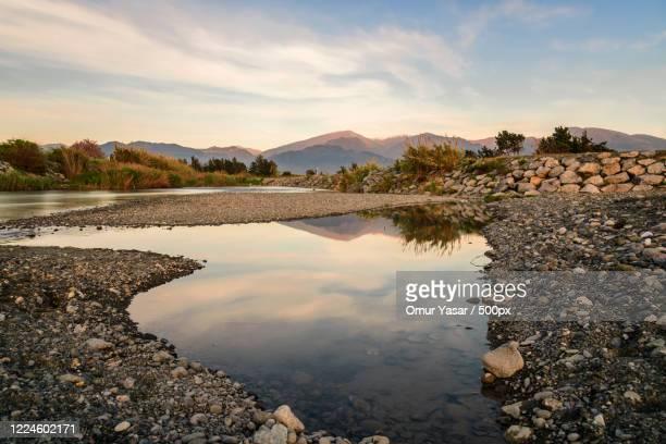 view of lake, dortyol, hatay, turkey - hatay stockfoto's en -beelden