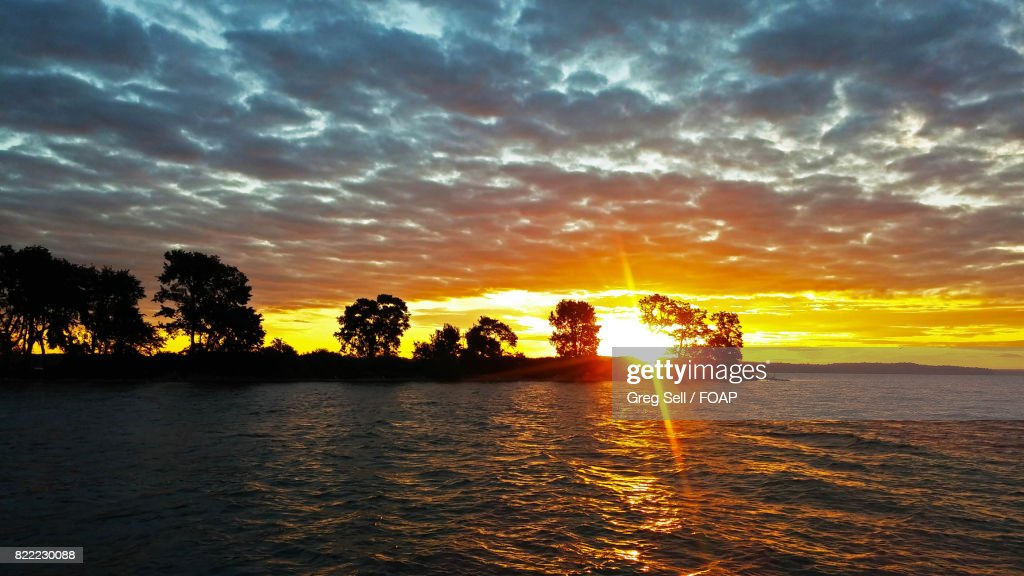 View of lake in mornings : Stock Photo