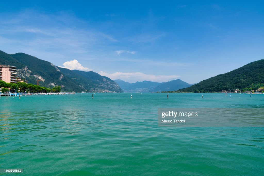 View of Lake Iseo from Paratico, Italy : Stock Photo
