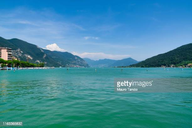 view of lake iseo from paratico, italy - mauro tandoi foto e immagini stock