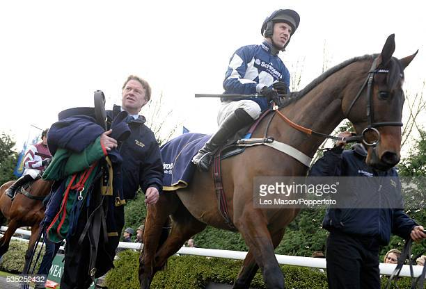 View of Lake Legend and Wayne Hutchinson being led out prior to winning the Williamhillcom sports Betting Handicap Hurdle during the 2009 Winter...