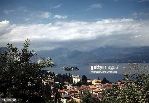 View of Lake Maggiore in Stresa, Italy.