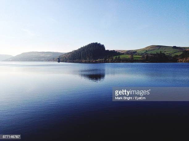 view of lake - lake vyrnwy stock pictures, royalty-free photos & images