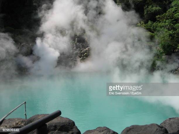 view of lake - hot spring stock pictures, royalty-free photos & images
