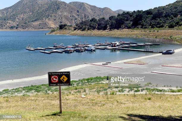 A view of Lake Piru during a press conference held for missing actress Naya Rivera on July 13 2020 in Piru California Rivera known for her role in...