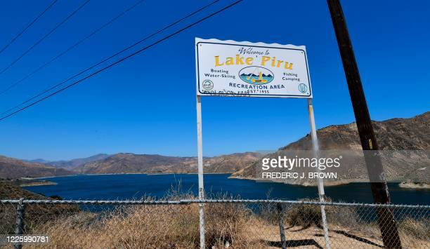 A view of Lake Piru in the Los Padres National Forest in Ventura County California on July 9 2020 as the search continues for actress Naya Rivera who...
