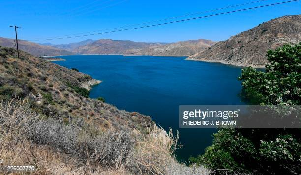 View of Lake Piru in the Los Padres National Forest, Ventura County, California on July 9, 2020 where the search continues for actress Naya Rivera,...