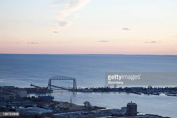 A view of Lake Superior from Duluth Minnesota US on Friday Jan 6 2012 Duluth the state's fourth largest city and the second largest on Lake Superior...