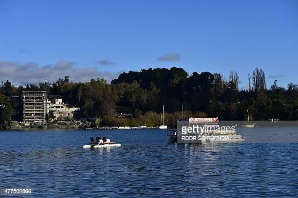 View of Lake Villarrica near Villarrica 1200 km from Santiago in southern Chile on June 17 2015 AFP PHOTO / RODRIGO BUENDIA