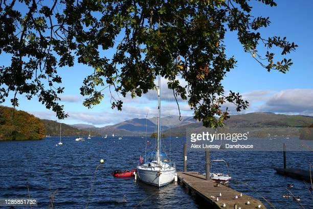View of Lake Windermere looking from Bowness-on-Windermere is seen on October 10, 2020 in Windermere, England.