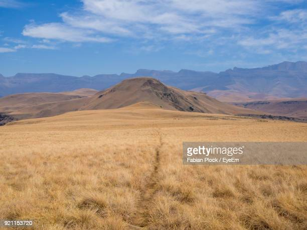 view of landscape against cloudy sky - pietermaritzburg stock pictures, royalty-free photos & images